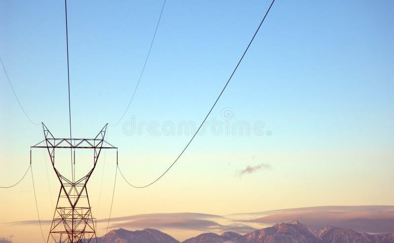 Líneas eléctricas imagen de archivo