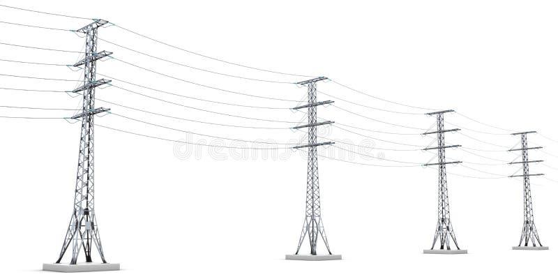 Líneas eléctricas stock de ilustración