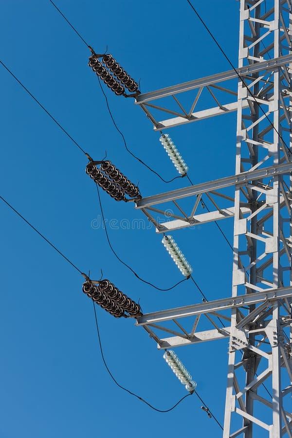 Líneas eléctricas eléctricas imágenes de archivo libres de regalías