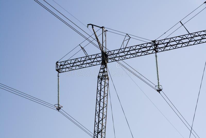 Líneas eléctricas eléctricas hidráulicas imagen de archivo