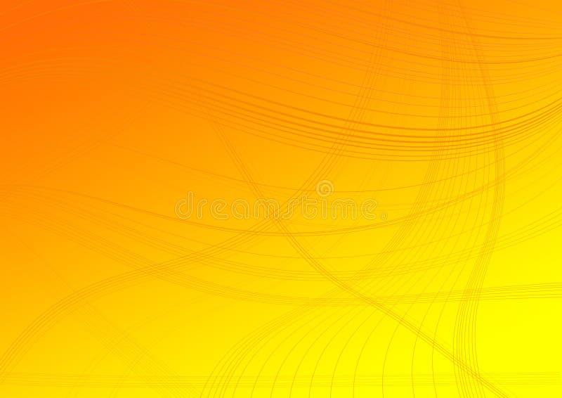 Líneas en un fondo degradado anaranjado stock de ilustración