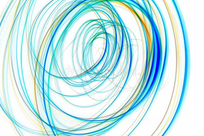 Líneas espirales multicoloras imagenes de archivo