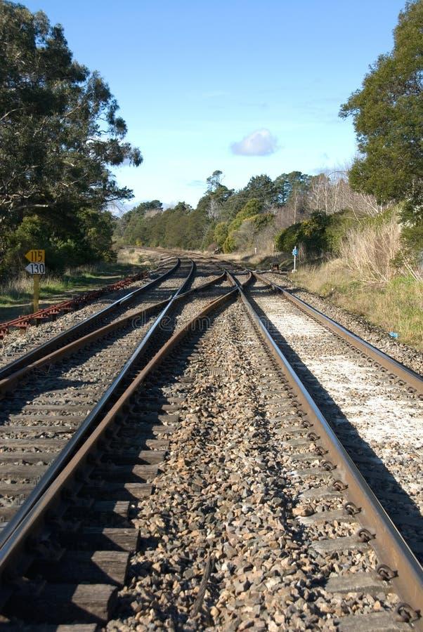Líneas ferroviarias imagen de archivo