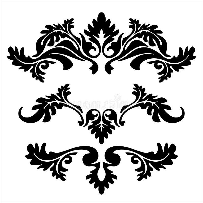 Líneas florales stock de ilustración