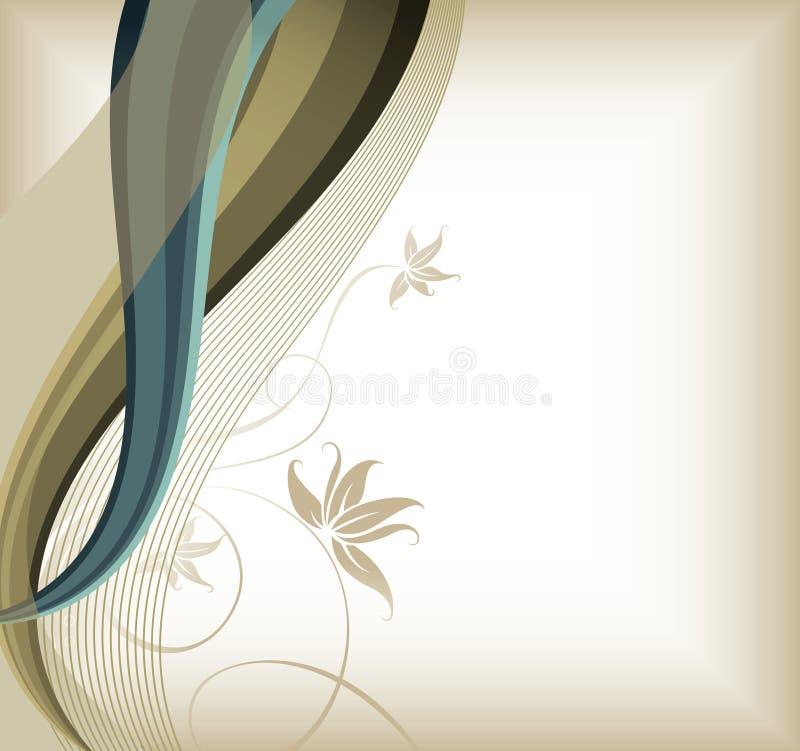 Líneas florales y de la curva ilustración del vector