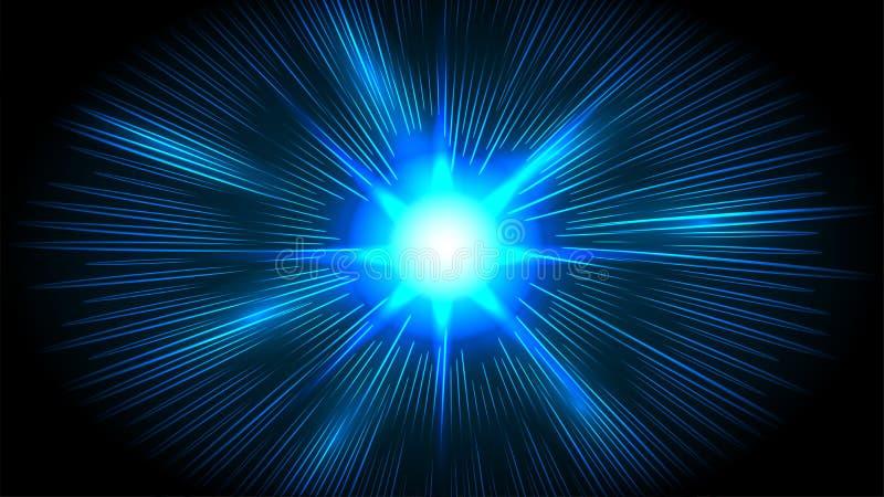 Líneas futuristas de la velocidad, fondo hyperspace del movimiento ilustración del vector