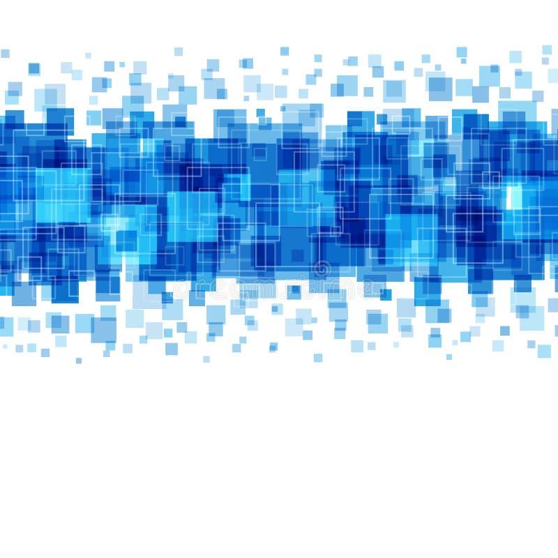 Líneas geométricas abstractas fondo de los cuadrados del azul ilustración del vector
