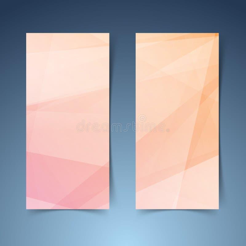 Líneas geométricas anaranjadas colección abstracta de la bandera libre illustration