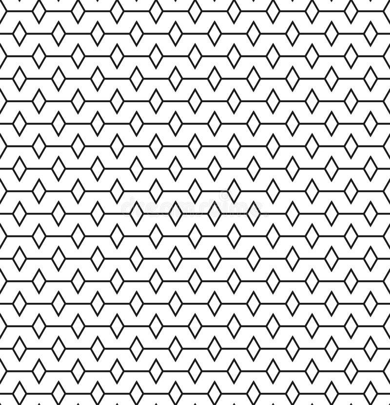 Líneas geométricas con el modelo inconsútil del rombus stock de ilustración