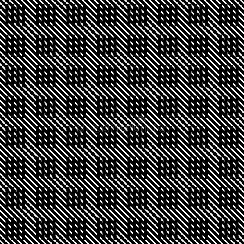 Líneas inconsútiles modelo del vector blanco y negro Papel pintado abstracto del fondo Ilustración del vector ilustración del vector