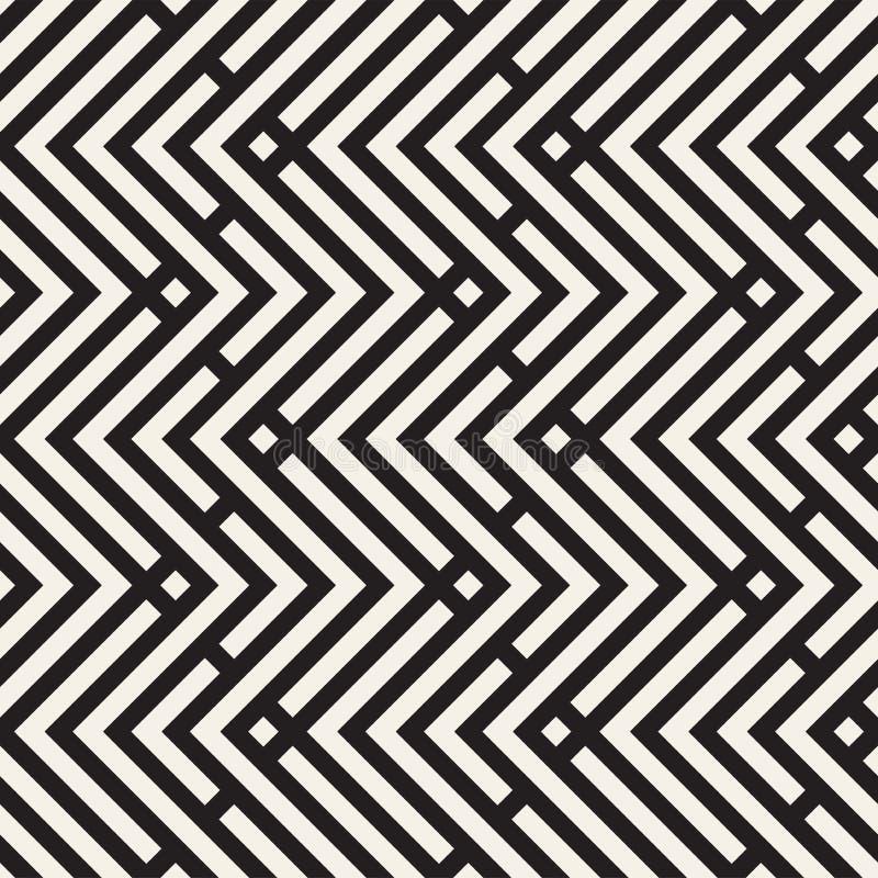 Líneas inconsútiles modelo del vector Textura abstracta elegante moderna Repetición de las tejas geométricas con los elementos de stock de ilustración