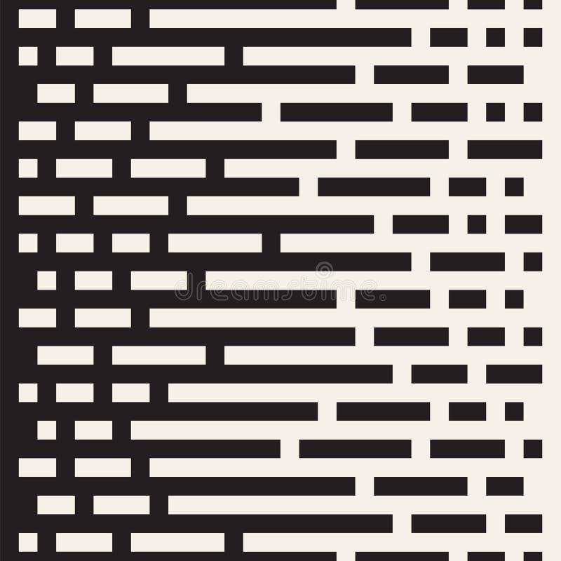 Líneas irregulares inconsútiles del vector Transición blanco y negro de semitono del color Modelo geométrico abstracto del fondo stock de ilustración