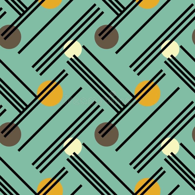 Líneas irregulares y modelo inconsútil diagonal de los círculos libre illustration