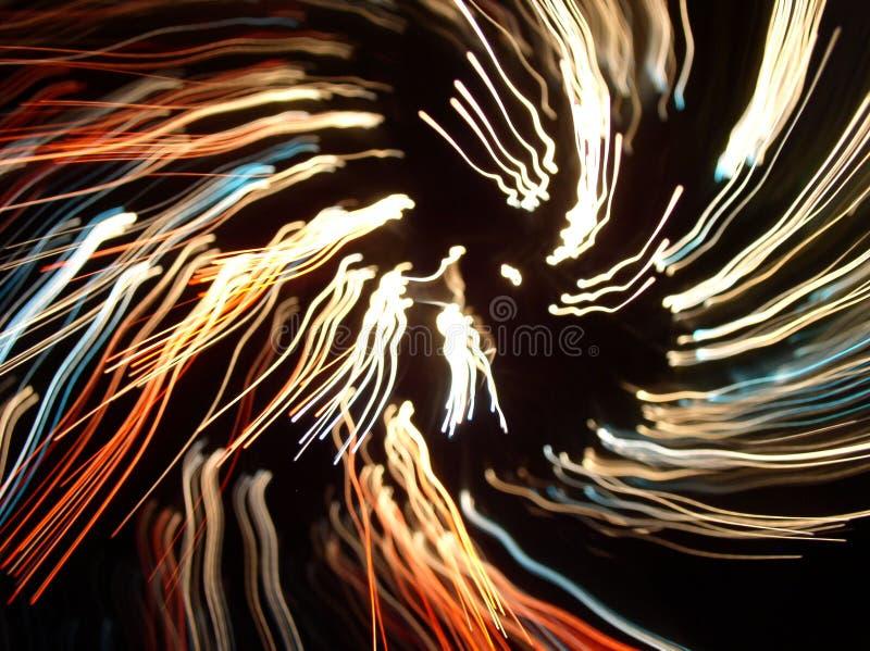Líneas ligeras abstractas fotografía de archivo