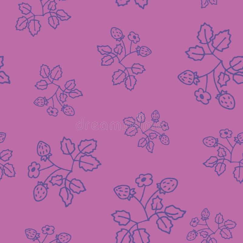 Líneas ligeras del azafrán de la primavera de la fresa salvaje ilustración del vector