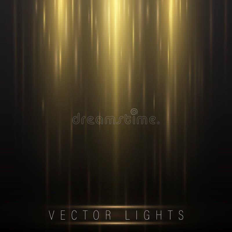 Líneas ligeras del resplandor abstracto ilustración del vector