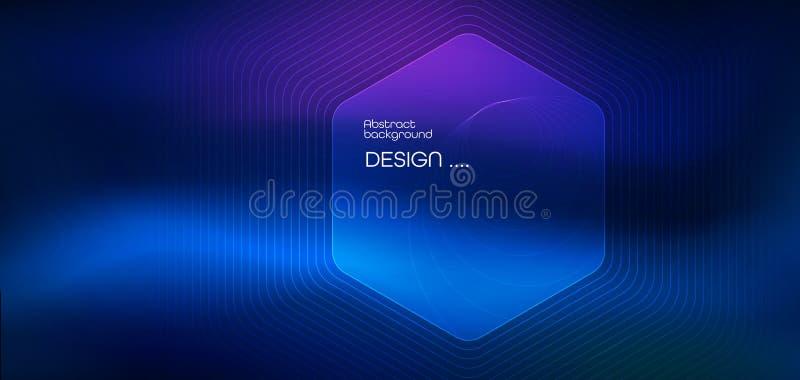 L?neas lisas del ejemplo del vector en fondo rojo y azul marino del color Concepto de alta tecnolog?a de la tecnolog?a digital ilustración del vector