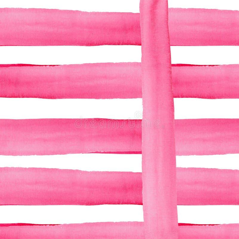 Líneas magentas carmesís rosadas rojas hermosas gráficas elegantes magníficas maravillosas sofisticadas abstractas de acuarela fotos de archivo libres de regalías