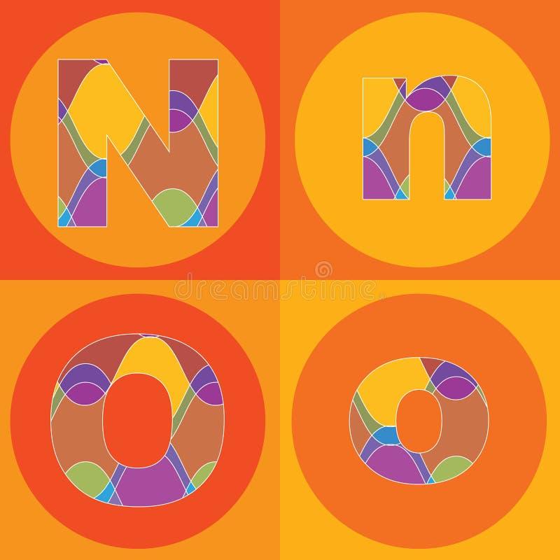 Líneas maravillosas patios de los ALFABETOS ilustración del vector