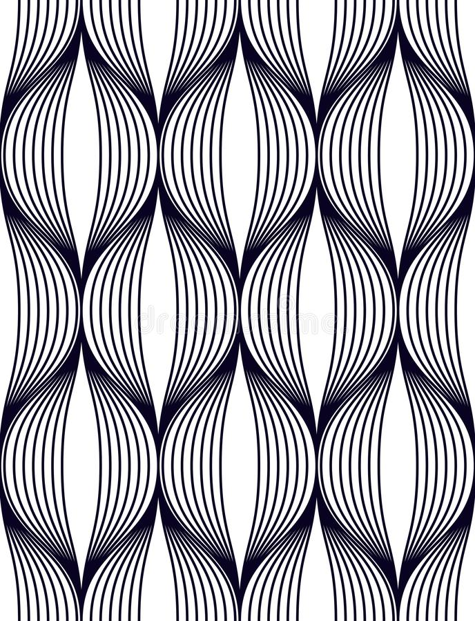 Líneas modelo inconsútil geométrico, backgroun sin fin del extracto de la tela de la repetición del vector libre illustration