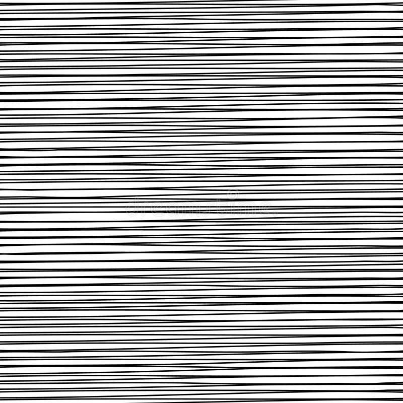 Líneas negras horizontales ilustración del vector