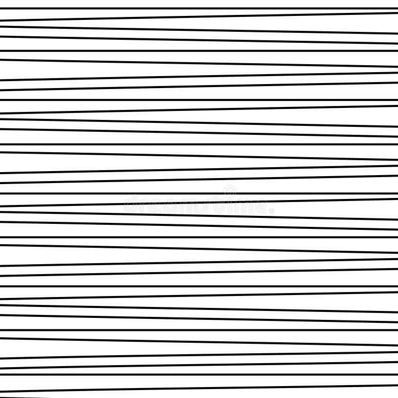 Líneas negras horizontales stock de ilustración