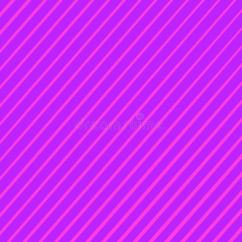 Líneas oblicuas púrpuras, del rosa y del color azul abstractas fondo de la pendiente de las rayas ilustración del vector