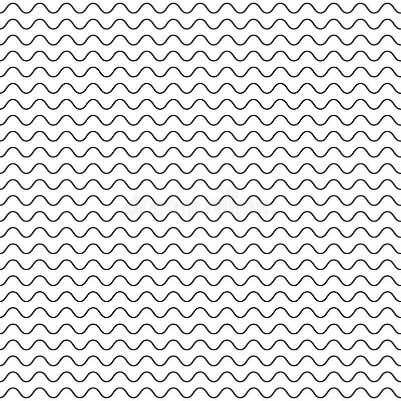 Líneas onduladas finas modelo inconsútil del vector libre illustration