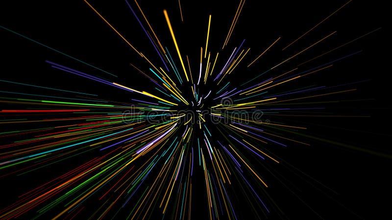 Líneas onduladas que brillan intensamente libre illustration