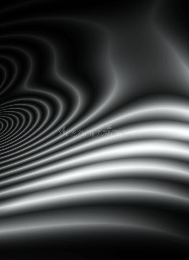 Líneas onduladas suaves ondas de la obscuridad ilustración del vector
