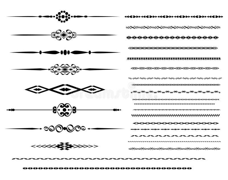 Líneas ornamentales de la regla libre illustration