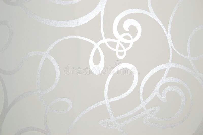 Líneas que brillan intensamente brillantes blancas - fondo del papel pintado fotografía de archivo