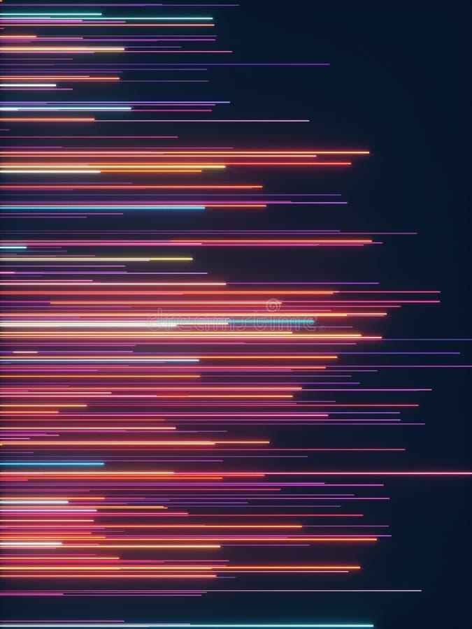 Líneas radiales abstractas fondo geométrico Flujo de datos De fibra ?ptica estrella de la explosi?n Efecto del movimiento libre illustration