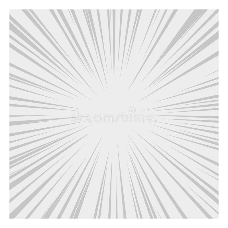 Líneas radiales efectos de la velocidad de los tebeos del gráfico Vector ilustración del vector