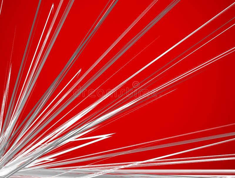 Líneas radiales texturizadas que separan efecto de la explosión Starburst, sol stock de ilustración