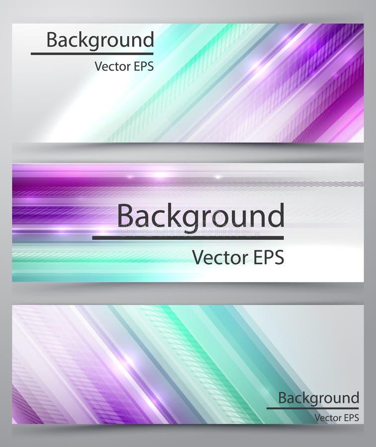 Líneas rectas bandera abstracta del vector ilustración del vector