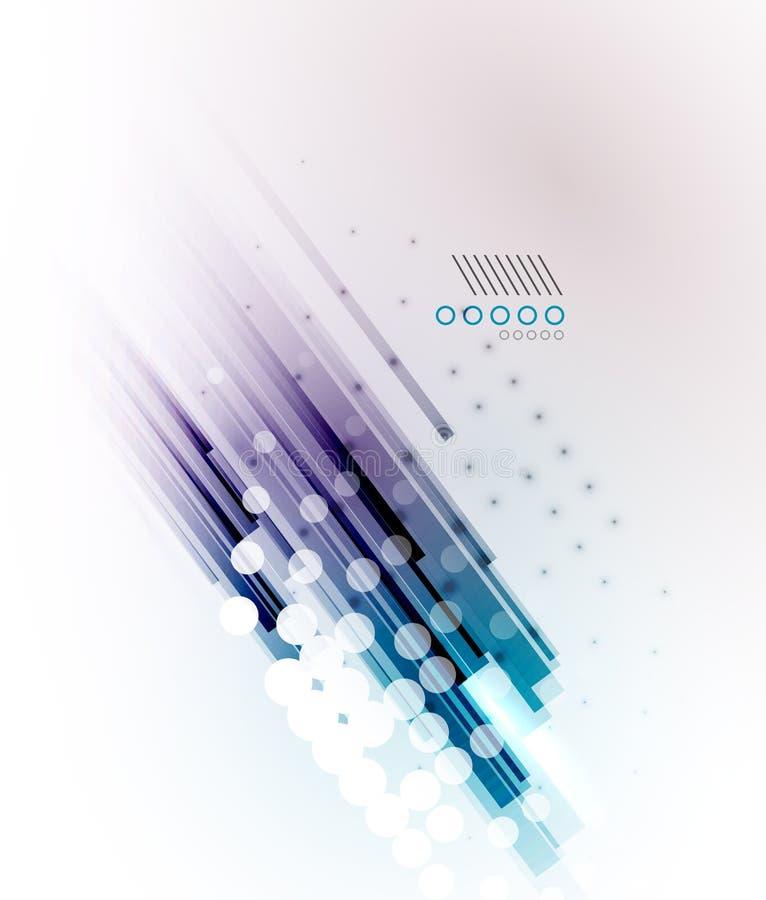 Líneas rectas fondo moderno futurista stock de ilustración