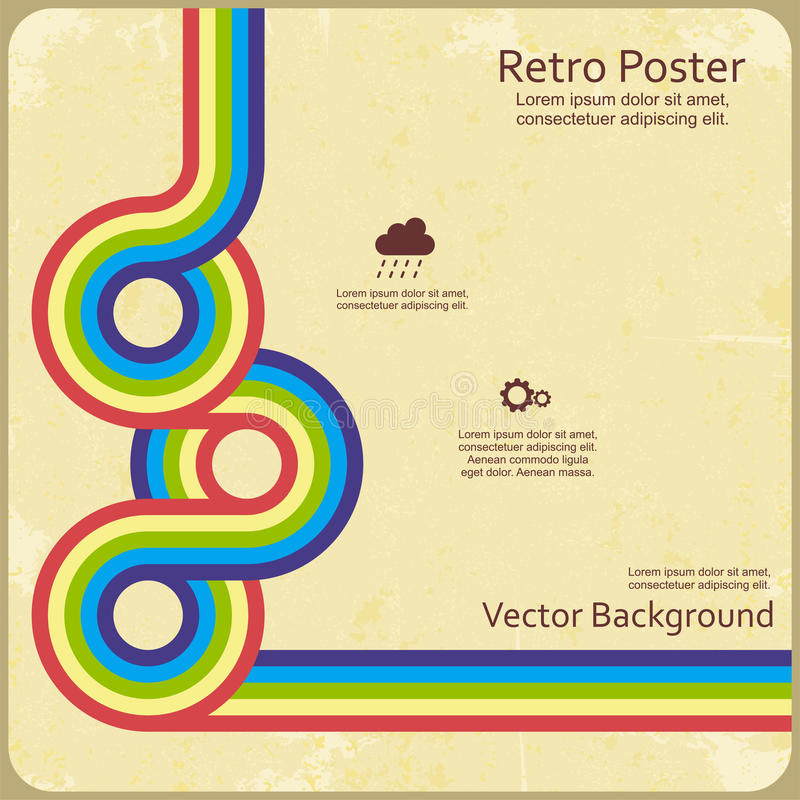 Líneas retras abstractas fondo Vector ilustración del vector