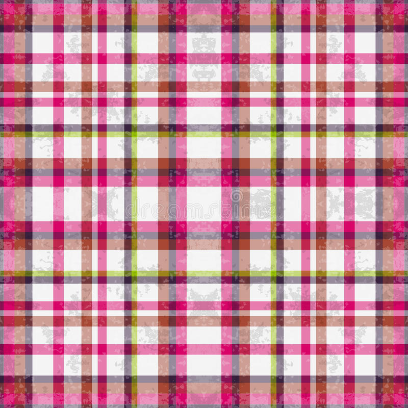 Líneas rosadas en un efecto blanco del grunge del fondo stock de ilustración