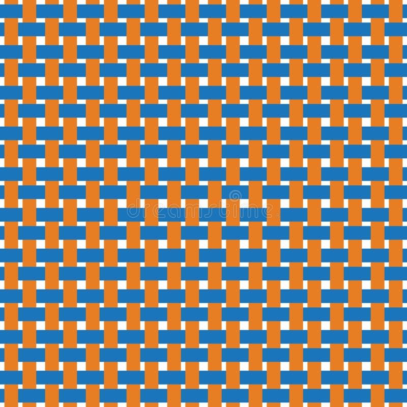 Líneas tejidas inconsútiles fondo del texutre Vector plano y sólido stock de ilustración