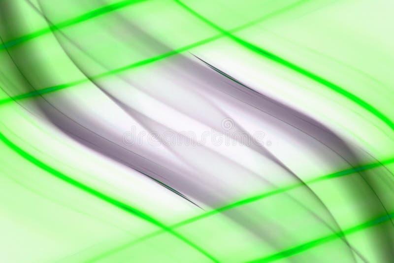 Líneas Verdes extracto stock de ilustración