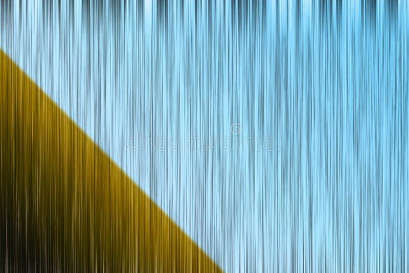 Líneas verticales negras de azul y de marrón degradadas ilustración del vector