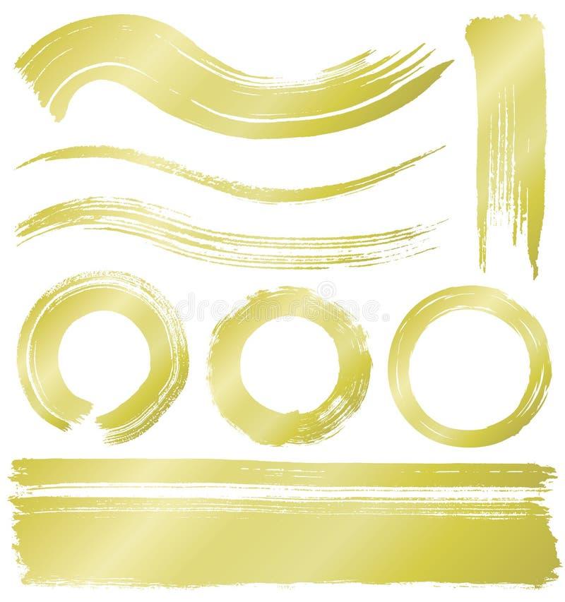 Líneas y círculos del movimiento del cepillo libre illustration