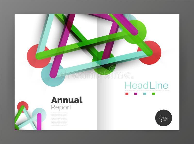 Líneas Y Círculos, Plantilla Abstracta Moderna Del Informe Anual Del ...