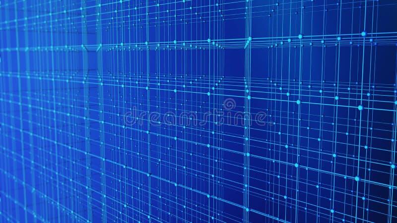 Líneas y esferas del triángulo de los datos de Digitaces y de la conexión de red i libre illustration