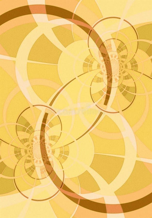 Líneas y oro curvados de los círculos ilustración del vector