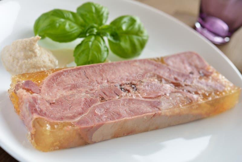 Língua de carne na alfazema imagem de stock royalty free
