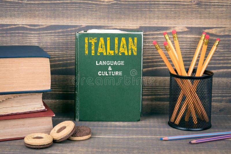 Língua e conceito italianos da cultura imagens de stock
