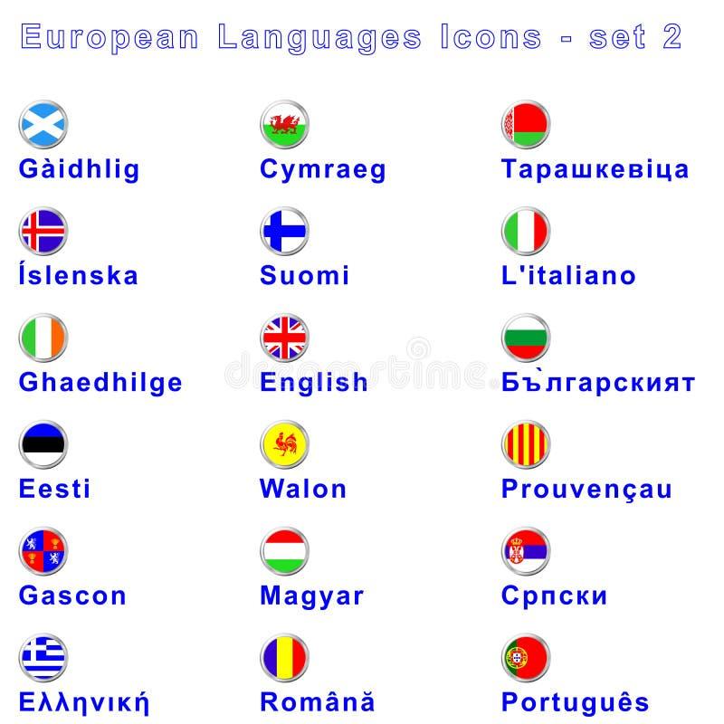 Línguas européias No. 2 ilustração royalty free