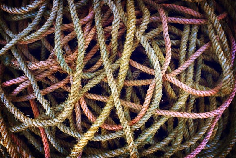 Lío de cuerdas imagen de archivo